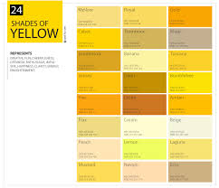 Shades Of Yellow | 24 shades of yellow color palette graf1x com
