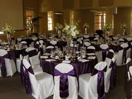 Purple Chair Sashes Purple White Chairs Fall Indoor Reception Spring Summer Winter