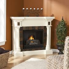 gel fuel corner convertible ivory gel fuel fireplace with faux