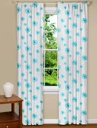 Turquoise Curtains For Living Room Bathroom Captivating Turquoise Flowers Modern Twist This