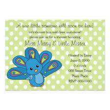 lil baby shower lil baby peacock custom announcement blue purple baby shower