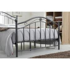 Black Panel Bed Hodedah Black And Silver Queen Size Metal Panel Bed With Headboard