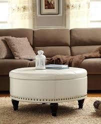 Coffee Table Ottoman Combo Decor Chic Upholstered Ottoman Coffee Table For Living Room
