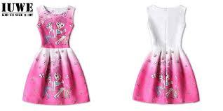 summer dress 2016 kids dresses for girls of 12 years sleeveless
