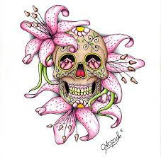 image result for beautiful skull tattoos for tattoos