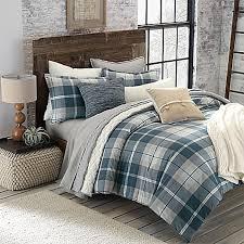 Plaid Bed Set Ugg Monterey Plaid Chambray Reversible Comforter Set Bed Bath