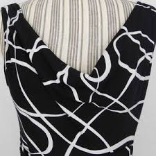 black white design maggy london black white swirly abstract design cocktail dress