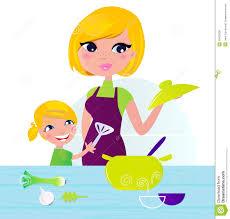 cuisine avec enfant mère avec l enfant faisant cuire la nourriture saine dans la