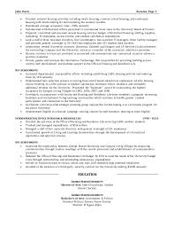 resume sample director of operations
