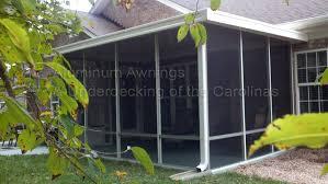Rv Awning Screen Room Aluminum Awnings U0026 Under Decking Nc Sc