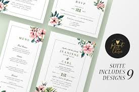 E Wedding Invitations Invitation Templates Creative Market