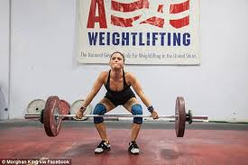 aflac commercial actress in gym female weightlifter morghan king reveals her protein packed diet