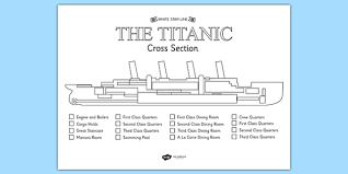 coloring pages of the titanic the titanic cross section colour labelling worksheet titanic