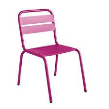 chaise jardin aluminium chaise de jardin design visalia colorée par drawer fr