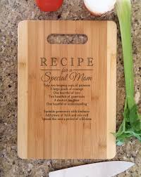 mothers gift personalized recipe for a special mom custom
