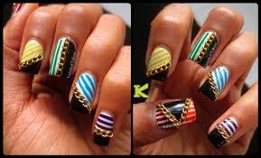 n nail 2mm golden chains nail art decoration kkcenterhk