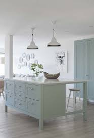 oversized kitchen island duck egg blue oversized kitchen island shaker cabinetry with