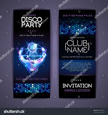 disco corporate identity templates cocktail stock vector 695582677