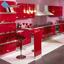 online buy wholesale furniture stickers from china furniture new red paint waterproof diy decorative film pvc vinyl self adhesive wallpaper kitchen cabinet furniture wall