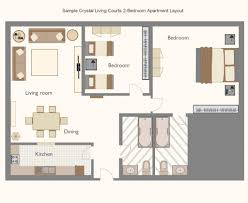 wonderful studio apartment layout with doble bedroom and bathrom