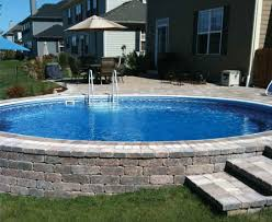 semi in ground pool love back yard and pools pinterest