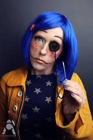 coraline jones costume i love it makeup halloween facepaint