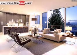 Wohnzimmer Rustikal Wohnzimmer Küche In Einem Weißer Boden Fliesen Beige Braun