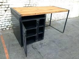 bureau bois noir bureau bois metal bureau metal bureau bois metal design meetharry co