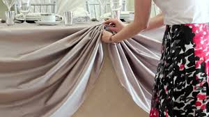 Pleated Table Covers D I Y Head Table Scallop Youtube