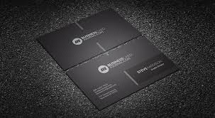 monochrome minimalist corporate business card template