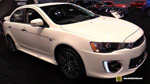 mitsubishi lancer 2017 interior 2017 mitsubishi lancer 2 4 sel awc exterior and interior