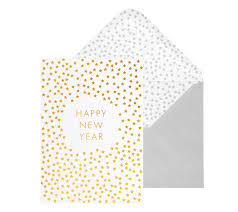 kikki quote cards a6 greeting card new year gold