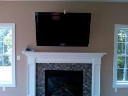 decorating fireplace mantel with tv above e2 80 94 design ideas