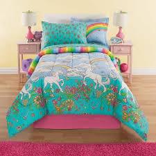 Walmart Girls Bedding Kidz Mix Unicorn 6 Piece Bed In A Bag Bedding Set Walmart Com