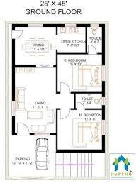 2bhk floor plans image result for 2 bhk floor plans of 25 45 villas pinterest
