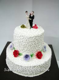 wedding cake sederhana sisi lina my 1st wedding cake