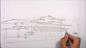 robie house architectural sketching youtube