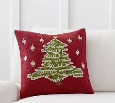christmas pillows u0026 throws pottery barn