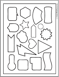 Geometric Shape Coloring Pages Heart Star Lightning Coloring Pages Shapes