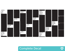 Chalk Board Wall Stickers Yearly Planner Chalkboard Your Decal Shop Nz Designer Wall Art