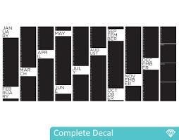 yearly planner chalkboard u2013 your decal shop nz designer wall art