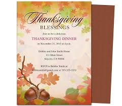 thanksgiving invitation template 28 images free printable
