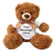 engraved teddy bears teddy gift personalized tummy say it with a stuffed