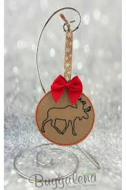 moose ornament embroidery design ith