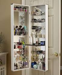 Jewelry Armoire Over The Door Mirror Cabinet by White Cosmetic Organizer Armoire Mirror Zulily Make As