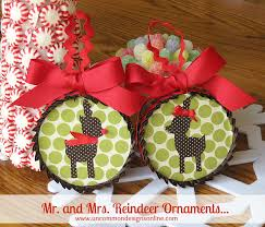 and mrs reindeer ornaments