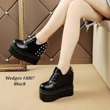 Jual Wedges model wedges terbaru simple jual sepatu wedges 3007gr 220rb