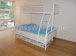 White Metal Bunk Bed Bedroom Affordable White Ikea Metal Bunk Bed Frame With Stairs
