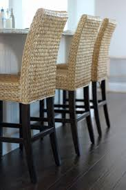 Laminate Dark Wood Flooring Furniture Rattan Counter Stools With Back And Wood Leg Also