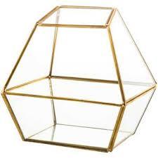 gold geometric metal u0026 glass terrarium hobby lobby